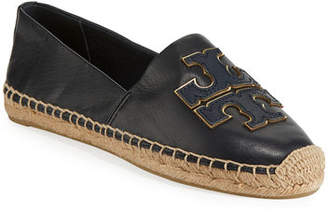Tory Burch Ines Flat Leather Logo Espadrilles