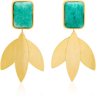 Nicole Romano Freeborn Gold-Plated Brass And Green Snake-Effect Earrings