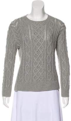 Michael Kors Cable Knit Cashmere Sweater Grey Cable Knit Cashmere Sweater