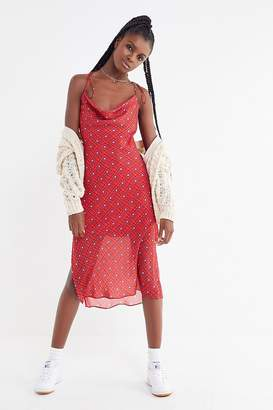Finders Keepers Sorrento Tie-Shoulder Midi Slip Dress
