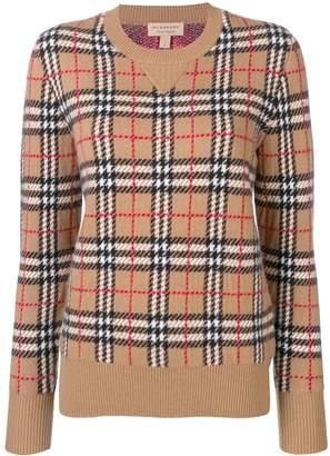 Burberry Vintage Check cashmere jacquard jumper