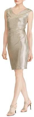 Ralph Lauren Metallic Ruched Dress