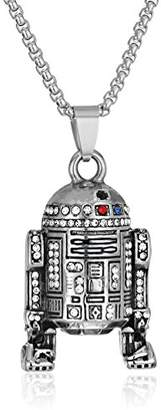 Star Wars Jewelry R2-D2 Stainless Steel with Gem Pendant Necklace