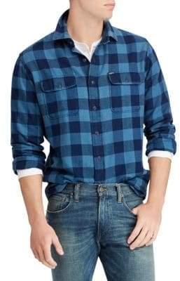 Polo Ralph Lauren Classic-Fit Indigo Checker Shirt