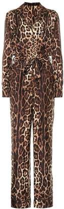 Dolce & Gabbana Leopard-print silk jumpsuit