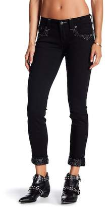 Miss Me Embellished Cuffed Skinny Jeans
