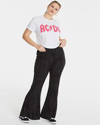 Fashion World Simply Be Glitter Kick Flare Trousers