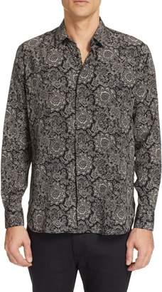 Saint Laurent Couer Pattern Silk Shirt