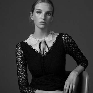 Sandro Two-tone guipure dress