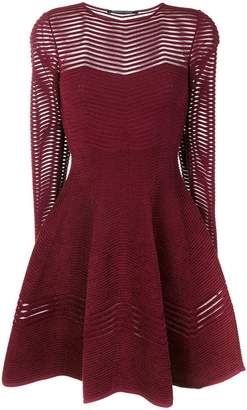 Valenti Antonino chevron patterned flared dress