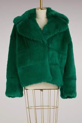 MSGM Short Fur Jacket
