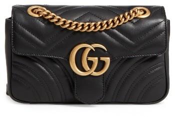 Gucci Mini Gg Marmont 2.0 Matelasse Leather Shoulder Bag - Black