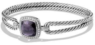David Yurman Albion® Bracelet With Black Orchid And Diamonds, 11Mm