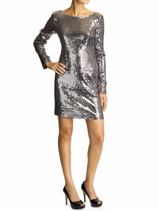 Aryn K. Sequin dress
