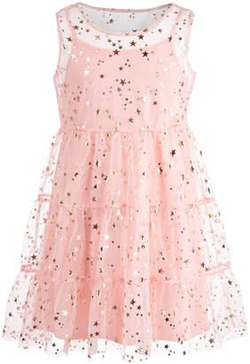 Epic Threads Big Girls (Size 16) Star-Print Mesh Dress