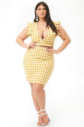 Forever 21 Plus Size Gingham Skirt