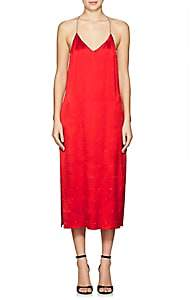 Amiri Women's Embellished Silk T-Back Slipdress - Red
