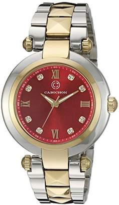 Cabochon Women's 16088-SG-24 Cairo Analog Display Quartz Two Tone Watch