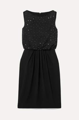 Max Mara Farasio Crystal-embellished Satin-crepe Dress - Black