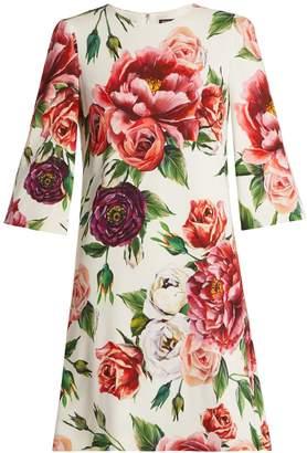 Dolce & Gabbana Rose and peony-print dress