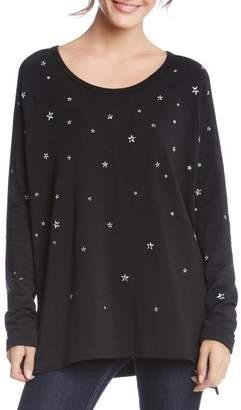 Karen Kane Star Print Sweatshirt