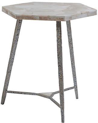 Artistica Chasen Shell Side Table - White