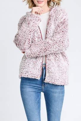 Love Tree Faux Fur Jacket