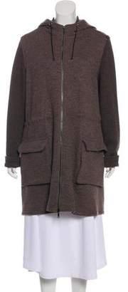 Lafayette 148 Wool-Blend Knee-Length Coat