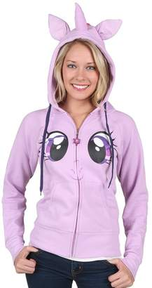 My Little Pony Twilight Sparkle Face Juniors Costume Hoodie with Mane & Horn