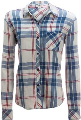 Dylan Super Washed Indigo Plaid 1 Pocket Shirt - Women's