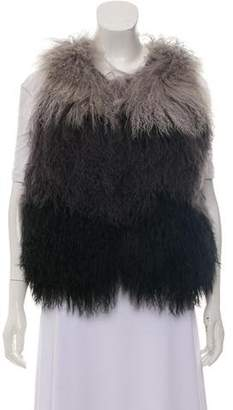 Haute Hippie Fur Wool Vest w/ Tags