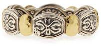 Konstantino Aspasia Silver & 18k Gold Band Ring, Size 7
