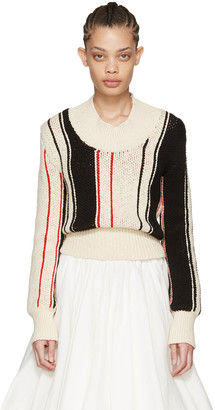 J.W. Anderson Off-White Striped Scoop Sweater $1,100 thestylecure.com