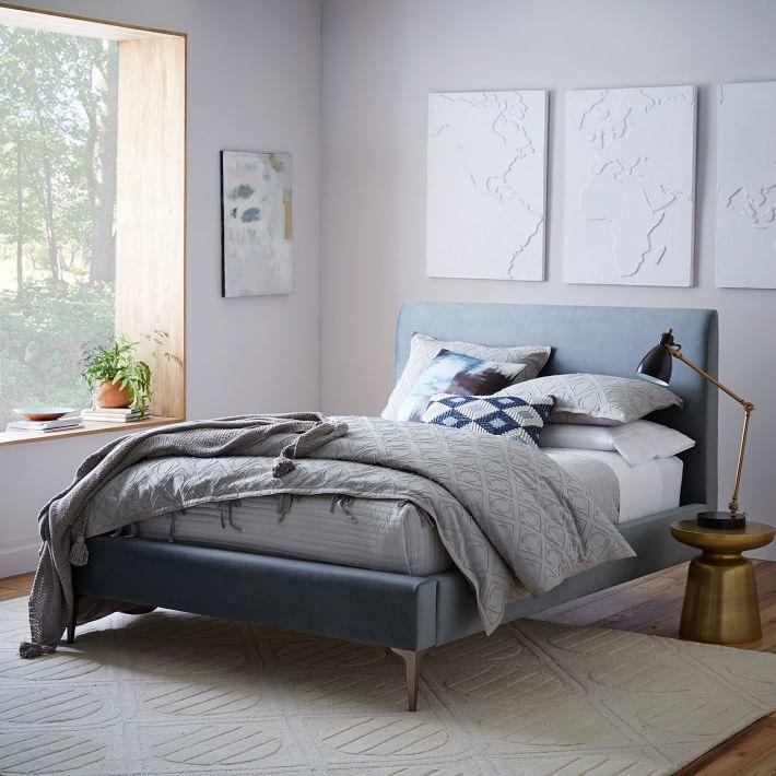 Deco Upholstered Bed - Luster Velvet