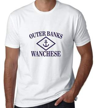 Hollywood Thread Outer Banks - Wanchese, NC - Nautical Anchor Men's T-Shirt