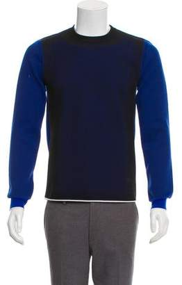 Christian Dior Wool-Blend Mesh-Accented Sweater