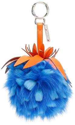 Fendi Fox And Rabbit Fur Pineapple Charm