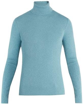 Gucci Roll-neck ribbed-knit wool-blend sweater