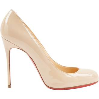 Christian Louboutin Fifi Beige Patent leather Heels