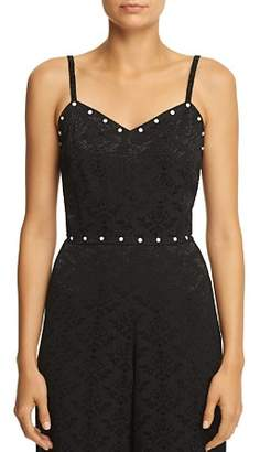 Sandro Nolwenn Cropped Studded Jacquard Cami - 100% Exclusive