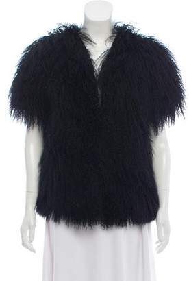 J Brand Short Sleeve Fur Jacket