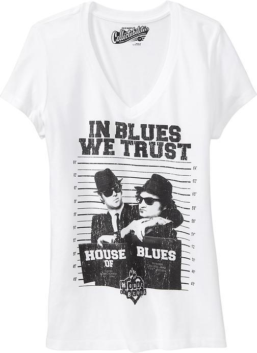Old Navy Women's The Blues Brothers™ V-Neck Tees