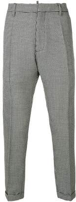 DSQUARED2 classic houndstooth trousers