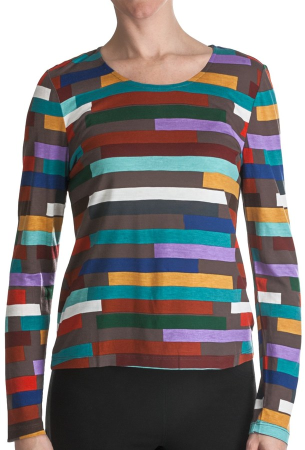 Paperwhite Printed Pullover Fitted Shirt - Long Sleeve (For Women)