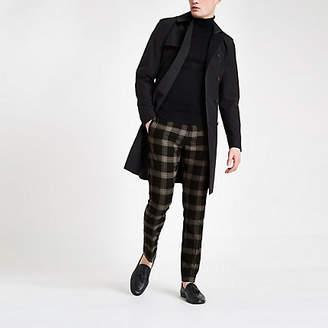 River Island Black check skinny smart pants