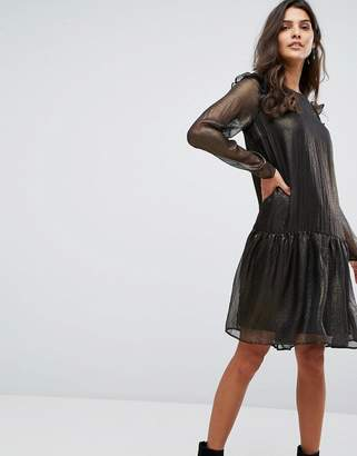 Y.A.S Metallic Smock Dress