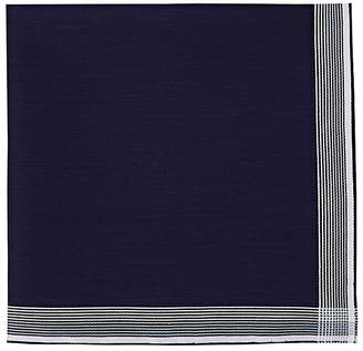 Simonnot Godard Men's Striped-Border Cotton Handkerchief