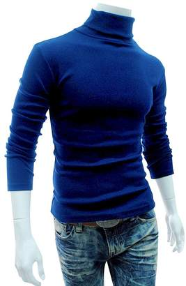LovingIn Mens Casual Basic Knitted Turtleneck Slim Fit Pullover Thermal Sweaters, XXL
