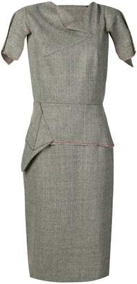Roland Mouret Vernon checked dress