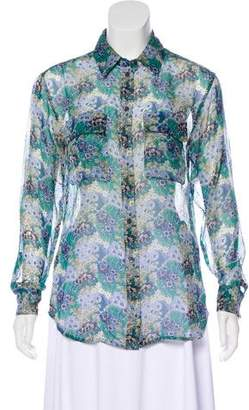 Equipment Floral Print Silk Blouse
